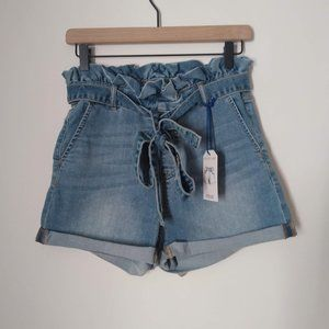 NWT Cello Paperbag Denim High Rise Shorts